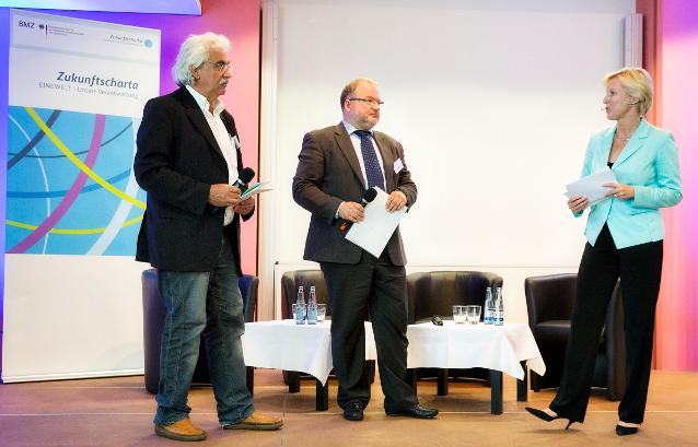 Foto von Leo Pröstler auf dem Themenforum zu nachhaltigem Wirtschaften des BMZ 17/18. Juni 2014 in Kiel